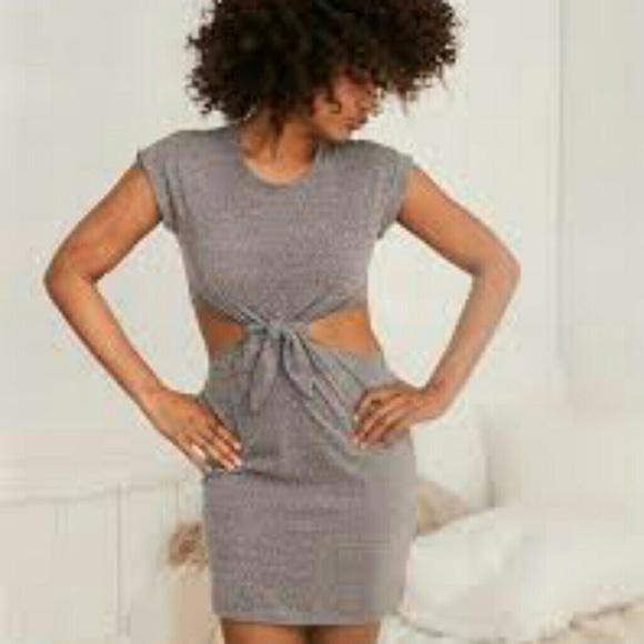 aerie cutout knot dress